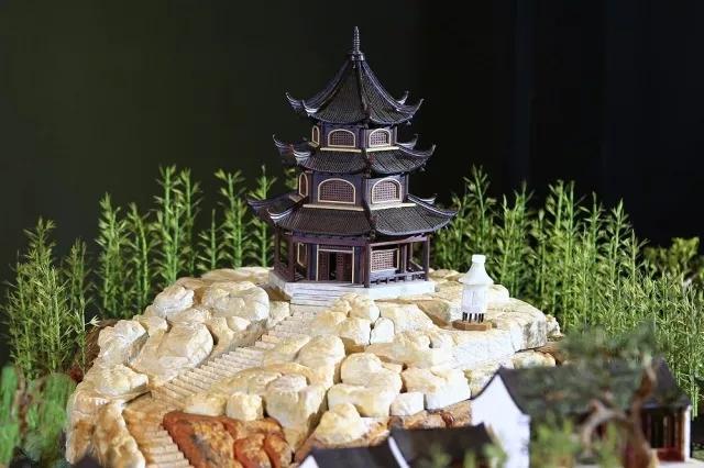 现存于中国园林博物馆的止园精雕模型局部——大慈悲阁