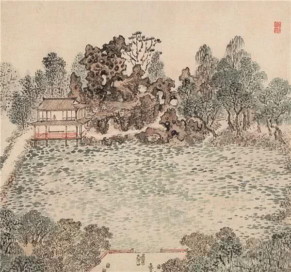 张宏《止园图》描绘的飞云峰北侧