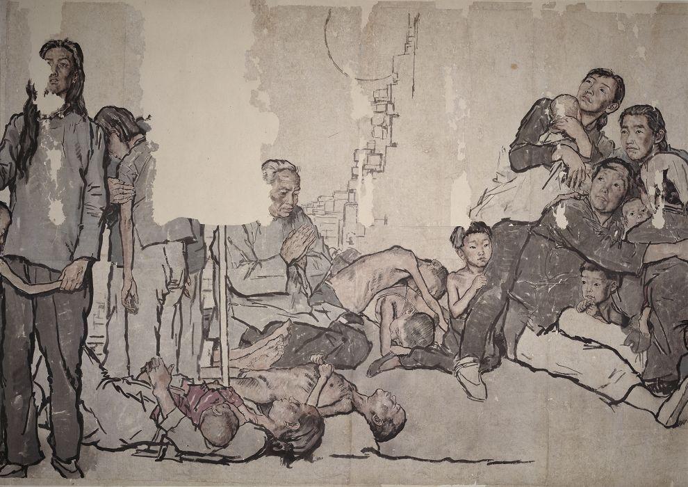 蒋兆和《流民图》局部3 1943年作