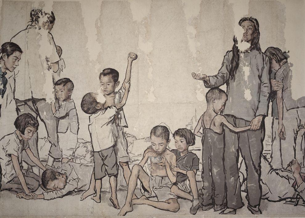 蒋兆和《流民图》局部2 1943年作