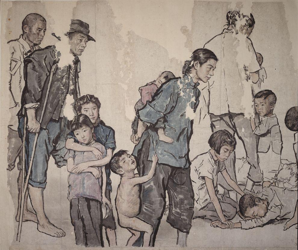 蒋兆和《流民图》局部1 1943年作