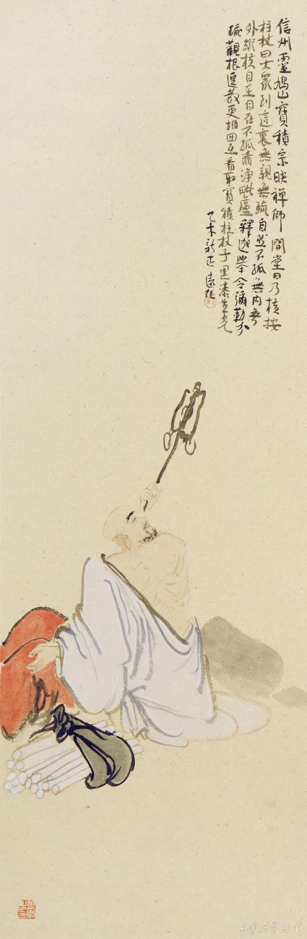 w305-4 罗汉四屏 105×35cm×4 缩图 副本