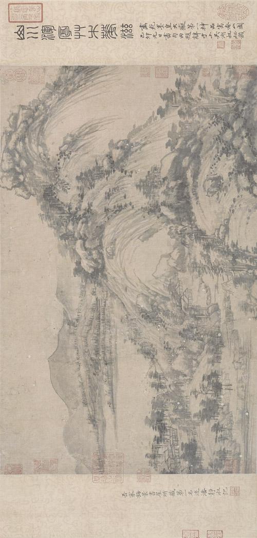 元 黄公望 富春山居图完美合璧卷(剩山,无用师)纸本 33×1036.9cm 局部2 旋转 缩图