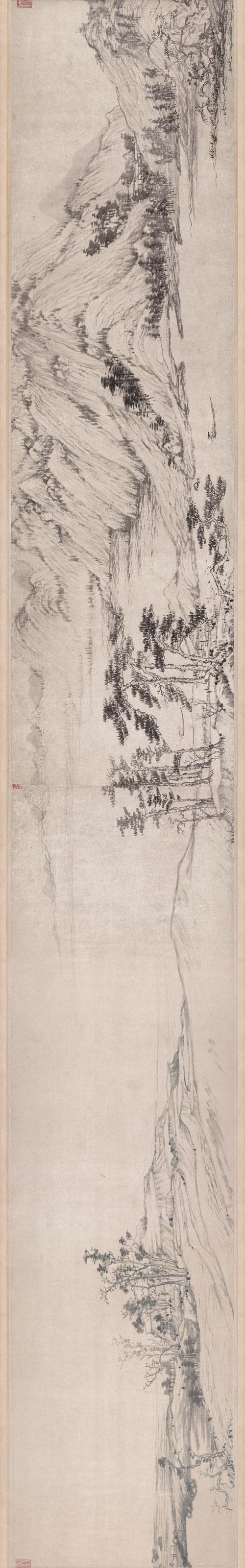 元 黄公望 富春山居图完美合璧卷(剩山,无用师)纸本 33×1036.9cm 局部4 旋转 缩图