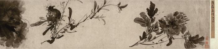 明 徐渭《杂花图》卷1 南京博物院藏 局部1 缩图