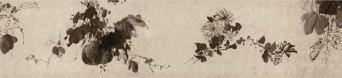 明 徐渭《杂花图》卷1 南京博物院藏 局部4 缩图