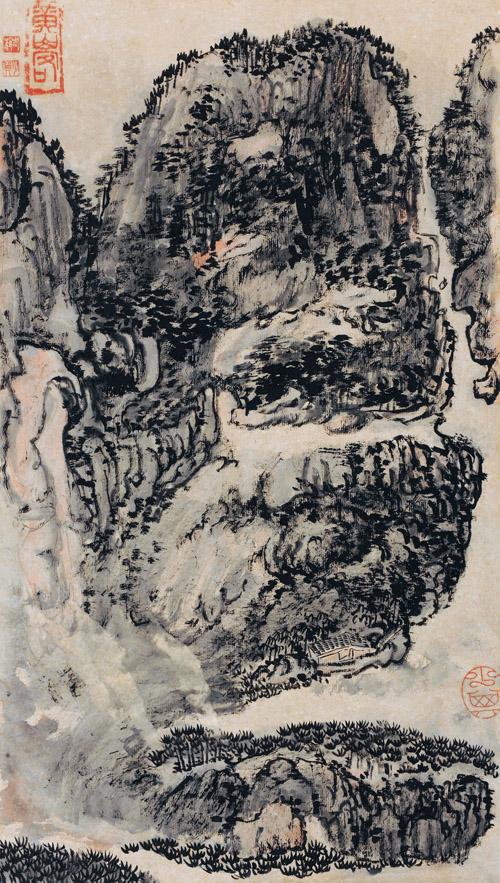 赖少其 黄山 47×26cm 印文:黄山客、老赖、少其、少其 缩图