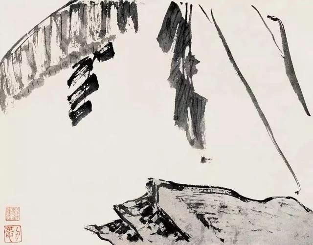 清 八大山人 传綮写生图之蕉石 31.5cm×24.5cm 1659 台北故宫博物院藏