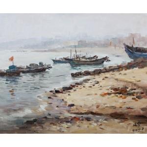 深沪渔港(油画)