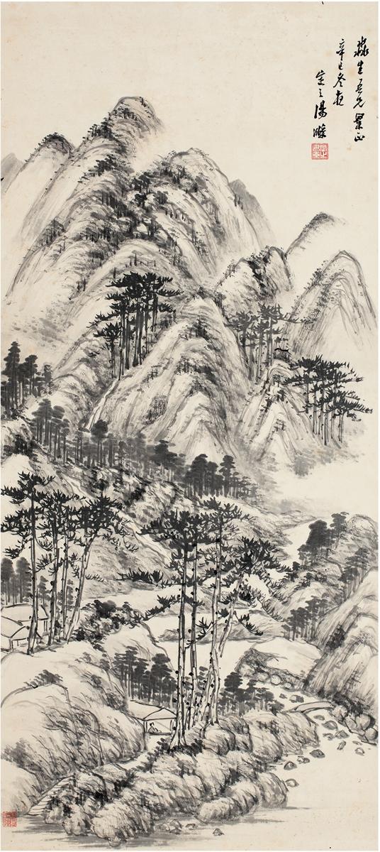 汤涤(1878~1948) 春山图